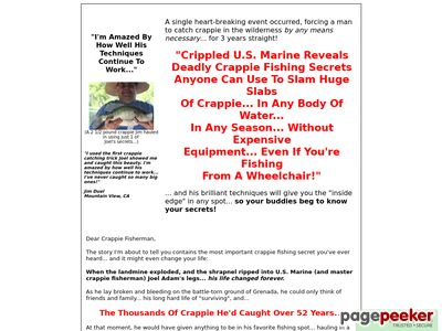 The Instant Crappie Catching Tricks E-Kit! 1