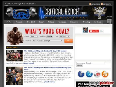 Increase Bench Press Program from Critical Bench 1