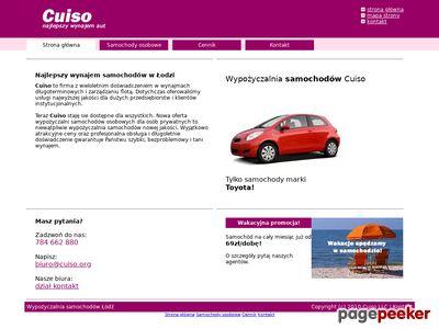 Wypożyczalnia aut Łódź Cuiso