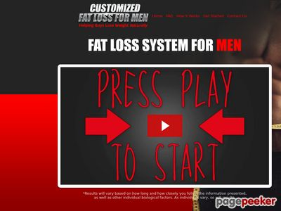 Customized Fat Loss For Men 1