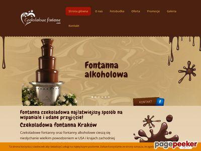 Czekoladowa fontanna | Wynajem czekoladowych fontann Kraków