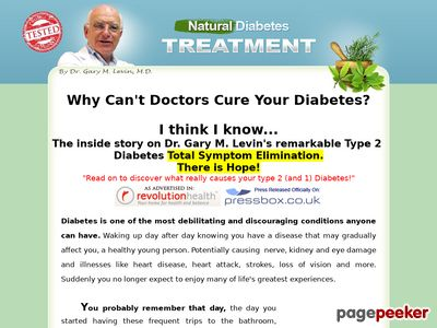 DrGarys Diabetes Treatment cure ebook natural health