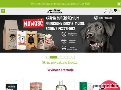 Sklep zoologiczny e-pazur Białystok