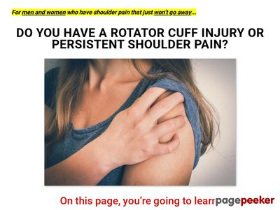 Killer Rotator Cuff Injury Product For Suffers And Fit Pros 1