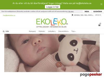 EkoLeko - innovativa klimatsmarta leksaker - för barnen och miljön - http://www.ekoleko.se