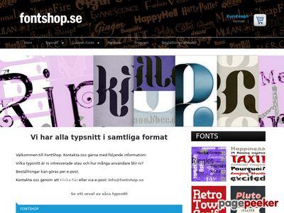 FontShop - http://www.fontshop.se