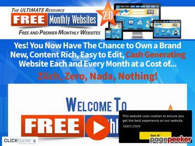 Free Monthly Websites 2.0 www