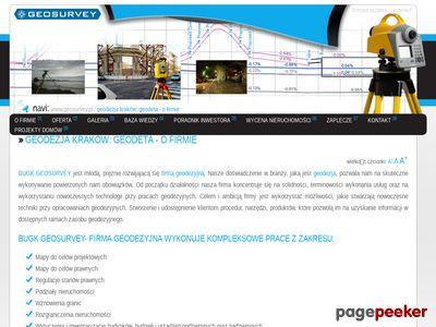Geodezja Kraków | www.geosurvey.pl