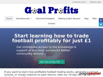 Goal Profits Betfair Football Trading & Team Statistics Software www