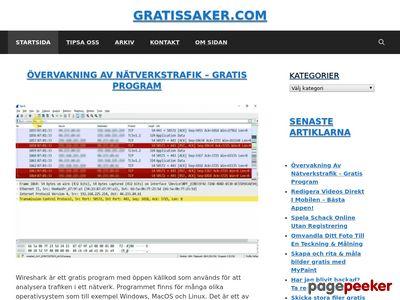 Gratis Saker - http://www.gratissaker.com