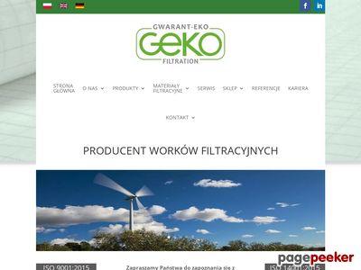 Worki i Tkaniny filtracyjne - Gwarant-Eko S.C