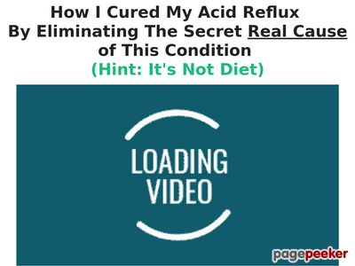 Heartburn No More (TM) – Free Video Presentation www
