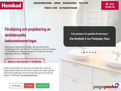 Hembad.se - badrumsinredning,  byggmaterial,  duschväggar,  duschkabiner,  badkar,  trädgård   - http://www.hembad.se