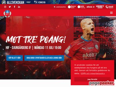 Helsingborgs IF - www.hif.se officiell hemsida - http://www.hif.se