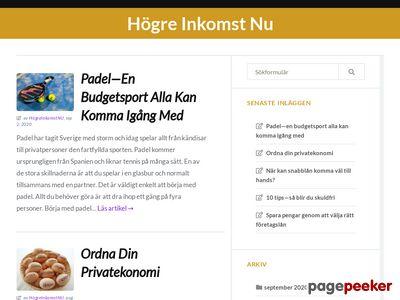H�gre Inkomst Nu - Tj�na pengar - Spara pengar - http://www.hogreinkomst.nu