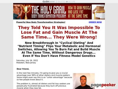 www.holygrailbodytransformation - Holy Grail Physique Transformation, Lose Fats and Achieve Muscle, Physique Recomposition, Bulking Up