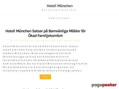 Hotellmunchen.se - http://www.hotellmunchen.se