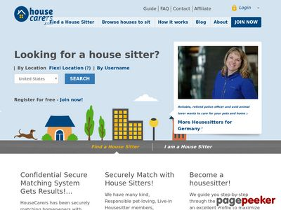 Housecarers.com Worldwide House Sitters And Pet Sitters Directory www