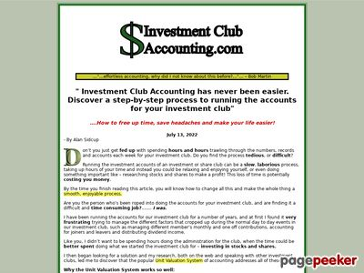 Investment Club Accounting . Com - Easy Accounting For Investment Clubs 1
