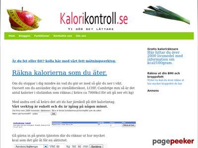 Kalorikontroll.se - http://www.kalorikontroll.se