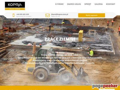 Www.kopra.com.pl - załadunek palet