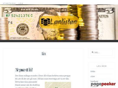 Vi listar alla lån - http://www.lanlistan.se