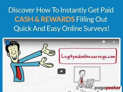 LegitPaidOnlineSurveys.com – Getting Paid for Online Surveys! www