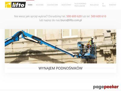 Lifto- wynajem podnośników koszowych Warszawa