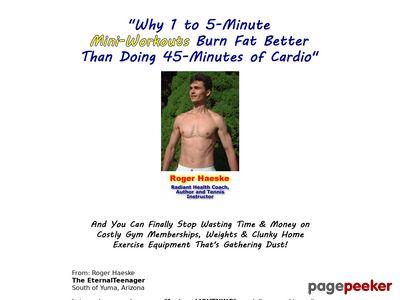 www.lightningspeedfitness - Body weight Workout routines- Lightning Pace Health Program