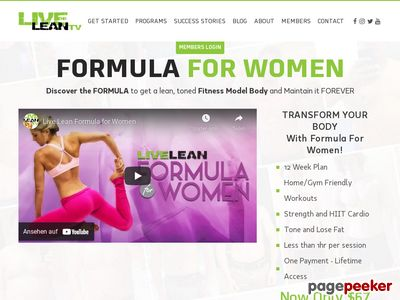 Live Lean Formula For Women 1