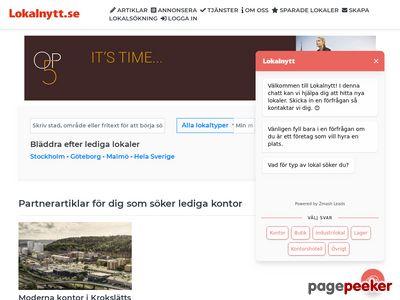 Lediga lokaler och kontor i Stockholm,  G�teborg och Malm�|Lokalnytt - http://www.lokalnytt.se