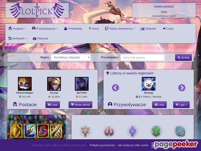 LoLPick - informacje o League of Legends