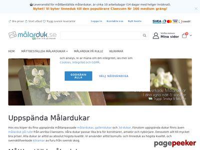 M�larduk.se - Konstn�rsmaterial - Uppsp�nda m�lardukar - M�larduk.se - http://www.malarduk.se