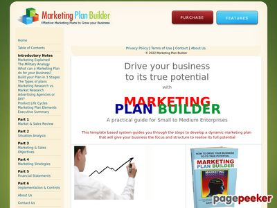 Develop a marketing plan specific to your business that will grow sales & profits with this easy to follow template based system | Marketing Plan Builder 1