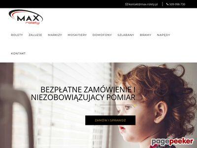 Rolety wewnętrzne - max-rolety.pl