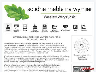 Meble na wymiar Wrocław - szafy, kuchenne, łazienkowe