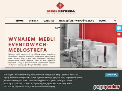 MEBLOSTREFA wypożyczalnia pokrowców na krzesła bankietowe