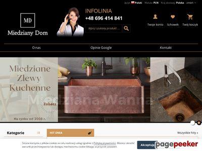 MiedzianyDom.pl - wanny, umywalki, okapy i zlewy miedziane