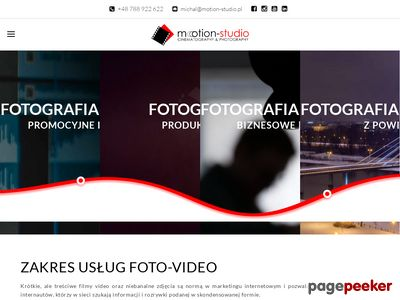 Filmy reklamowe - Motion Studio