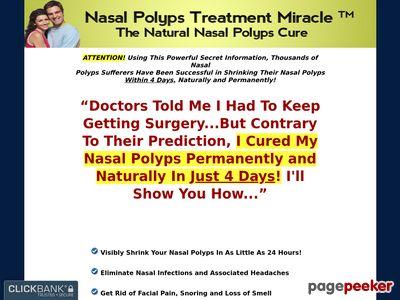Nasal Polyps Treatment Miracle™ - The Natural Nasal Polyps Cure 1
