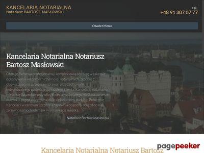 Notariusz Szczecin Bartosz Masłowski