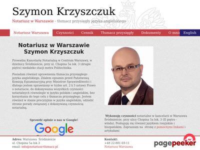 Notariusz Warszawa Centrum | Kancelaria Szymona Krzyszczuka