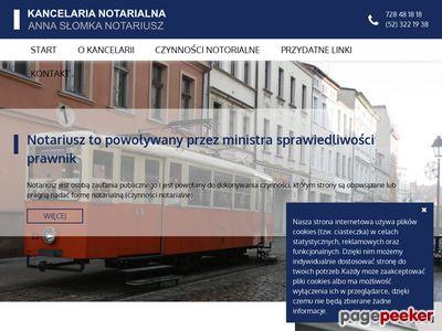 Notariusz Anna Słomka Bydgoszcz