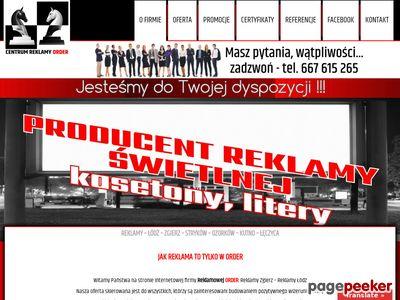 Firma Reklamowa Order - Centrum Reklamy Łódź