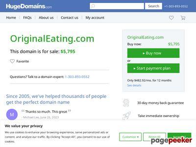 Welcome originaleating.com - BlueHost.com 1