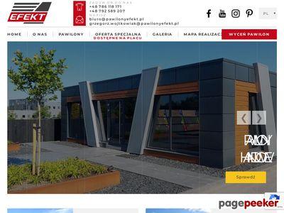 Produkcja pawilonów gastronomicznych - produkcja kiosków handlowych - EFEKT