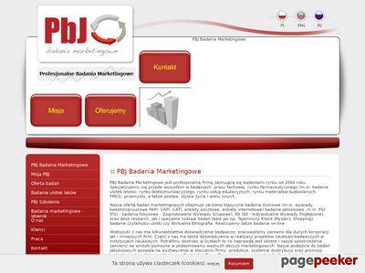 PBJ - Badania Marketingowe - CATI, FGI, IDI, Sondaże, Badania Rynku