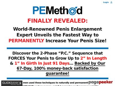 www.pemethod - Get a Bigger Penis with PEMethod - The #1 Rated Penis Train Program