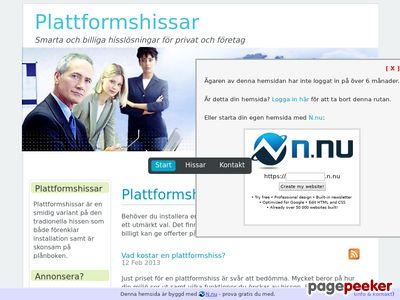 Plattformshissar | Smarta och billiga hissl�sningar - http://www.plattformshissar.n.nu