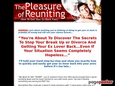 Pleasure Of Reuniting - How To Get Your Ex Back - Relationship Advice - Break Up Advice 1